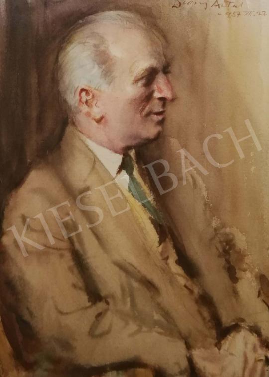 Diósy Antal - Szita József portréja festménye