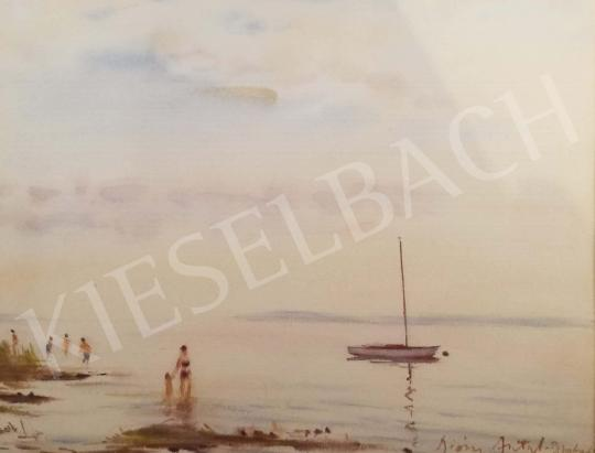 Diósy, Antal (Dióssy Antal) - Afternoon Swimming by The Lake Balaton painting