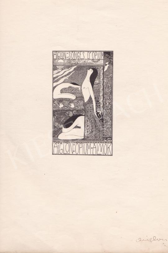 Eladó Sassy Attila - Aiglon: Ópium-álmok. 2 kiadás, 1918. Az album együttes ára: 380 000 Ft festménye