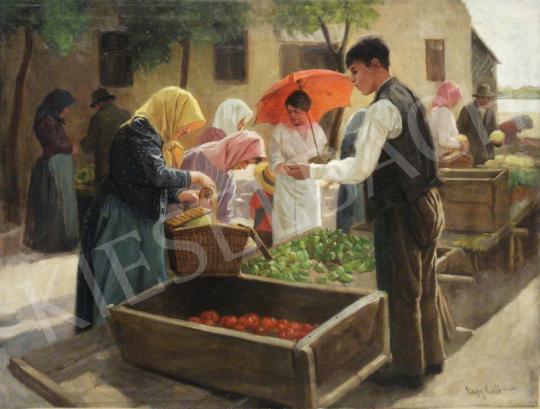 Eladó Nagy Ernő - Kisvárosi piac festménye