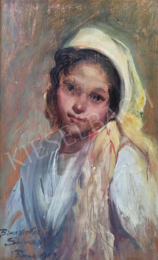 For sale bárónő Braunecker, Ernesztin (Braunecker Stina) - Young Girl with Scarf, 1903 's painting