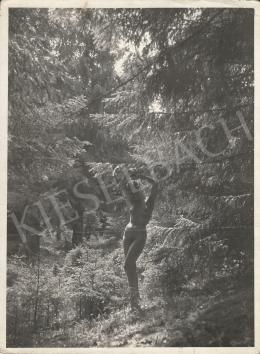 Szőllősy Kálmán - Akt erdőben, 1935 körül