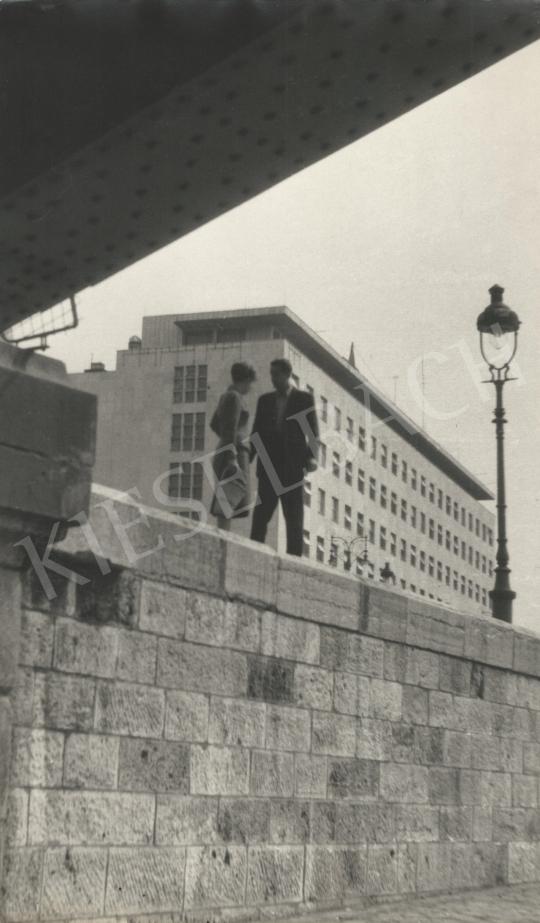 Eladó  Szőllősy Kálmán - Randevú a Margit híd alatt, 1950-es évek festménye