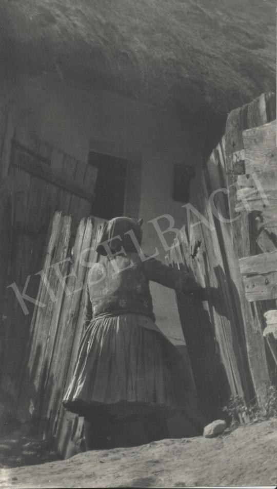 Eladó  Szőllősy Kálmán - Öreg kapu, 1950-es évek festménye