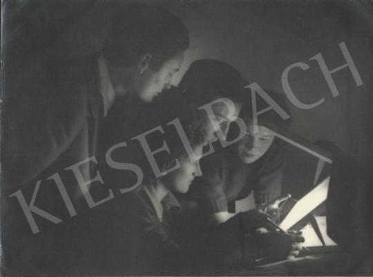 Eladó  Szőllősy Kálmán - Retusálás, 1948 körül festménye