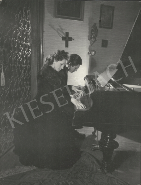 For sale  Szőllősy, Kálmán - Pianists, c. 1940 's painting