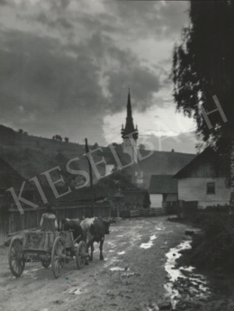 Szőllősy, Kálmán - Transylvanian Church with a Carriage, 1939