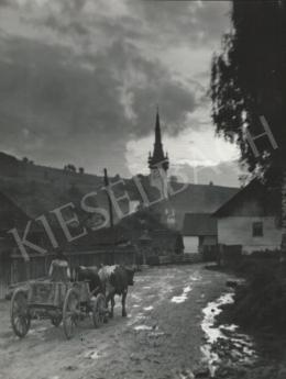 Szőllősy Kálmán - Erdélyi templom lovaskocsival, 1939