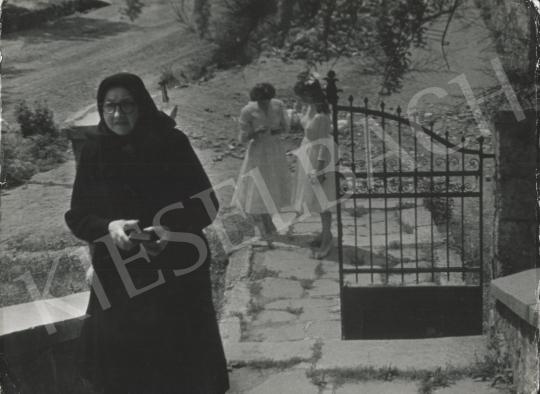 Eladó  Szőllősy Kálmán - Fekete és fehér, 1950-es évek festménye