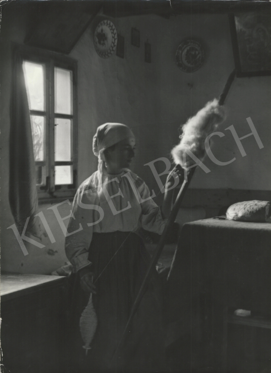 Eladó  Szőllősy Kálmán - Román nő guzsallyal, 1939 festménye