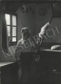 Szőllősy Kálmán - Román nő guzsallyal, 1939