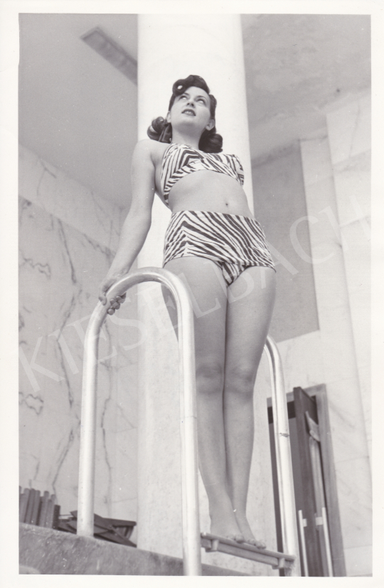 For sale  International News Photos - Roman Girl in a Pool (Lia di Leo), 1951 's painting