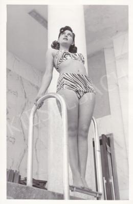 International News Photos - Római kislány a medencében (Lia di Leo), 1951