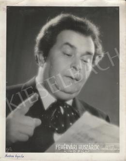 Magyar Film Iroda - Gyula Kabos Performing in the Movie of Fehérvári huszárok, 1939