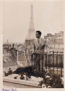 Keystone Agence Photographique - Robert Taylor Párizsban, 1934-35