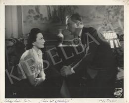 Unknown artist - Tivadar Uray and Eszter Szilágyi Szabó in the movie of Mária két éjszakája, 1940