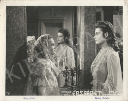 Unknown artist - Katalin Kárády and Klári Tolnay in the movie of Elisabeth, 1940
