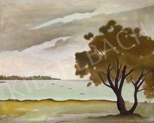 Eladó Basilides Barna - Csendes a Balaton (Kora reggel) festménye