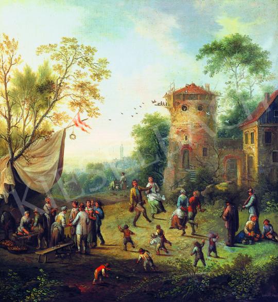Eladó Vollerdt, Johann Christian - Falusi mulatság festménye