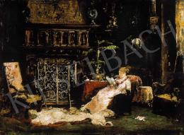 Munkácsy Mihály - Párizsi szalon ( A művész felesége )