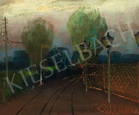 Eladó Zeller Mihály - Hajnali fények (Vasútállomás) festménye