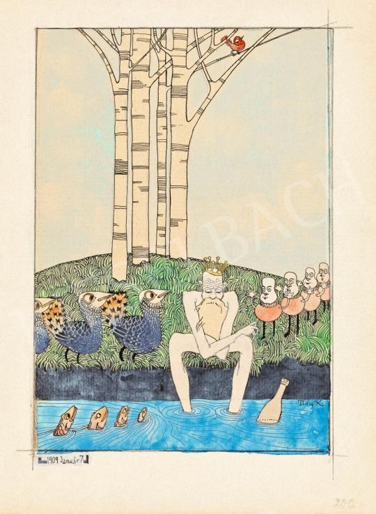 Eladó Tichy Kálmán - A mesevilág uralkodója (A király kívánsága…), 1909 festménye