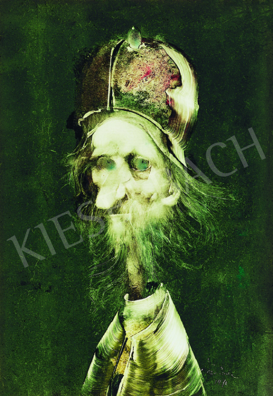 Szász, Endre - Old Man with Hat, 1971 painting