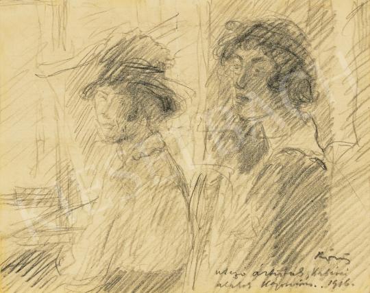 Eladó Rippl-Rónai József - Utazó artisták, 1916 festménye