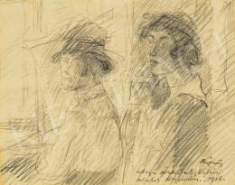 Rippl-Rónai József - Utazó artisták, 1916