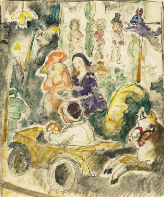 Eladó Pécsi-Pilch Dezső - Caroussel festménye