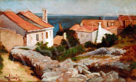 For sale  Aggházy, Gyula - Sea-Shore in South France 's painting