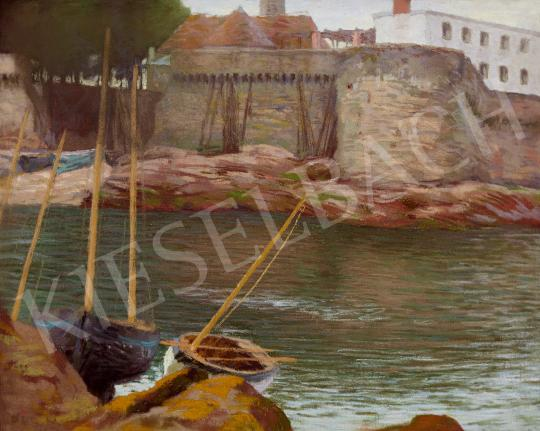 Eladó  Poll Hugó - Vitorlás az öbölben (Adria) festménye