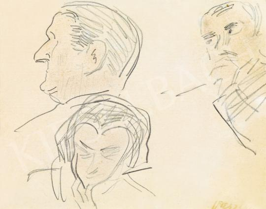 For sale  Vaszary, János - Profile of Horthy Miklós and other Heads 's painting