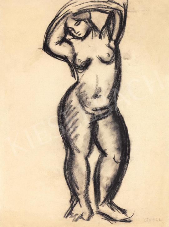 Czóbel Béla - Álló női akt, 1907 körül festménye