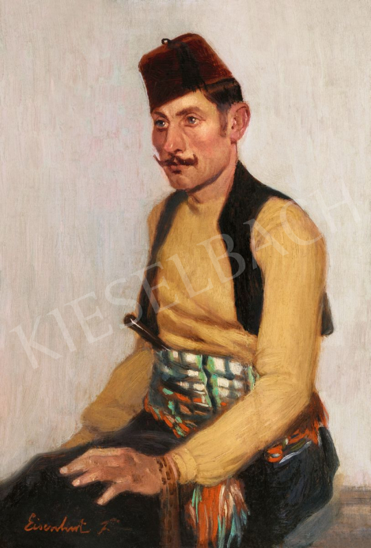 For sale Eisenhut, Ferenc - Turkish Man 's painting