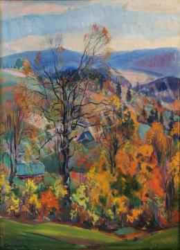 Kontratovics Ernő - Színes őszi táj (Kárpátalja)
