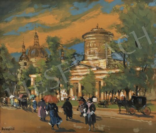 Eladó  Berkes Antal - Nagyvárosi látkép, 1925 festménye