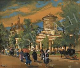 Berkes Antal - Nagyvárosi látkép, 1925