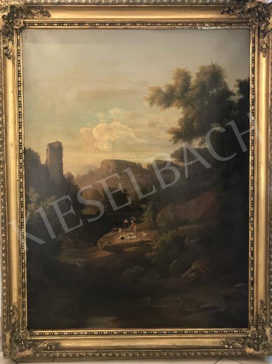 For sale Circle of Markó, Károly sr. - Italian Landscape with Castle 's painting