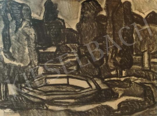 Gruber, Béla - The Sanatorium's Garden painting