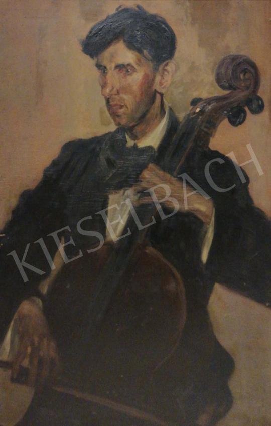 Müller Ágota - Csellista festménye