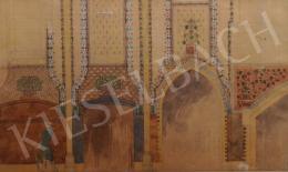 Ismeretlen festő - A Szilágyi Dezső téri templom belső falának díszítőfestés terve, 1890 körül