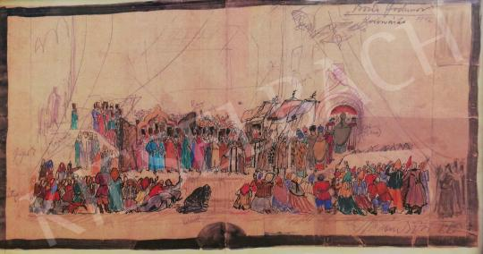 For sale  Márk, Tivadar - Stage Costume Design by Borisz Godunov 's painting