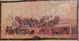 Márk Tivadar - Borisz Godunov koronázási jelenetének színpadi jelmezterve