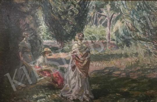 Márk Lajos - Hölgyek a szabadban festménye