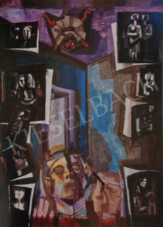 Hajnal János - Önarckép, 1975 k. festménye