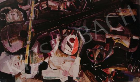 Hajnal János - A zene hatalma, 1960-as évek vége festménye