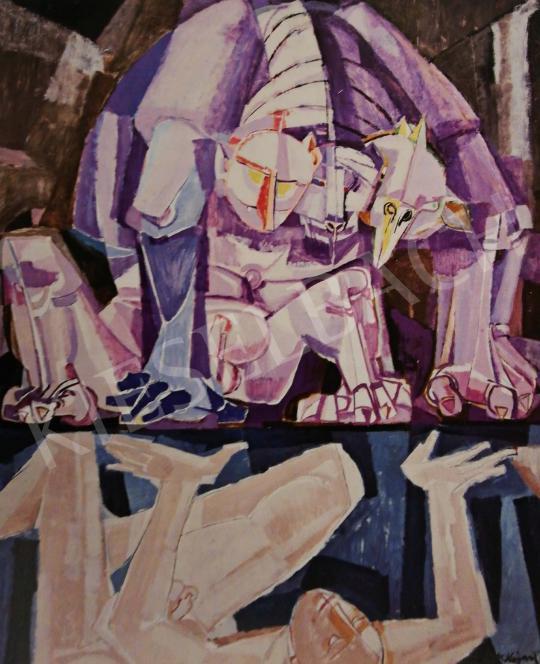 Hajnal János - Nárcisszusz, 1960 k. festménye