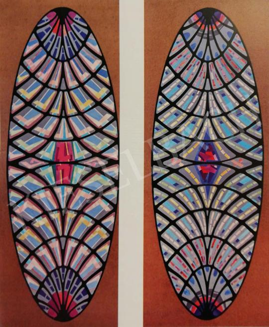 Hajnal, János - Design for the Stained-Glass Window of the Papal Audience Hall, 1971 painting