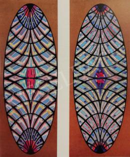 Hajnal, János - Design for the Stained-Glass Window of the Papal Audience Hall, 1971